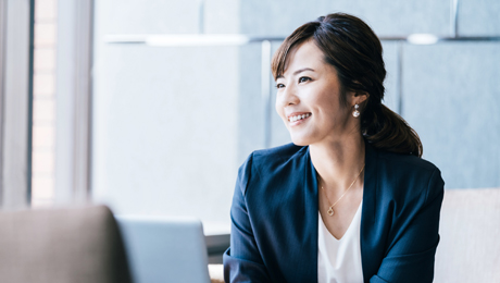 Female Japanese business trainer
